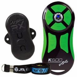Controle Longa Distância Universal JFA K600 600 Metros Preto e Verde + Central Receptora