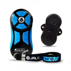 Controle Longa Distância Universal JFA K600 600 Metros Preto e Azul + Central Receptora