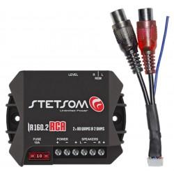 Módulo Amplificador Stetsom 160 Rms IR 160.2 Iron Line Stereo Digital 2 Canais 2 Ohms Classe D Fio / Rca Crossover Full Range