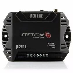 Módulo Amplificador Stetsom 280 Rms IR 280.1 Iron Line Mono Digital 1 Canal 2 Ohms Classe D Rca Crossover Full Range