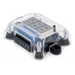 Voltímetro + Sequenciador Ajk Sound Remote Control 3 Saídas